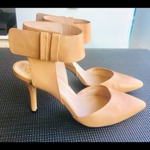 Vince Camuto Leather High Heels with Ankle Strap